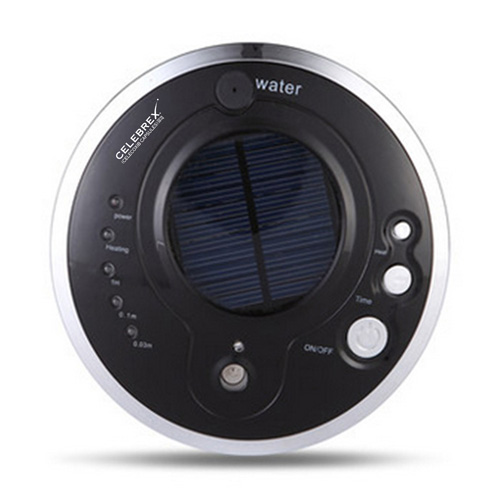 Round Solar Car Air Purifier With Oxygen Anion Image 2