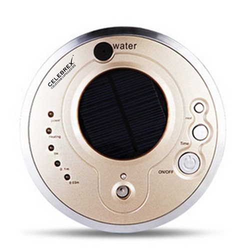Round Solar Car Air Purifier With Oxygen Anion Image 3