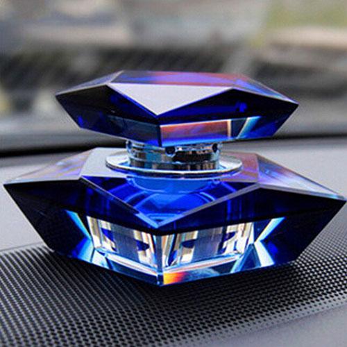 Square Crystal Car Perfume Seat