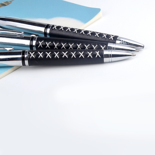 Leather Grip Twist Pen Image 5