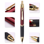 Push Action Metal Pen With Rubber Grip