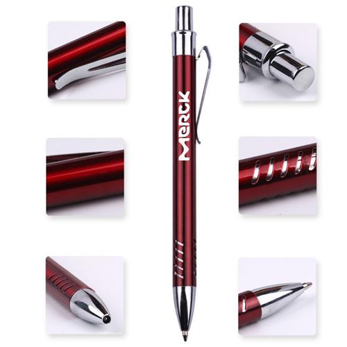 Metal Gills Grip Ballpoint Pen
