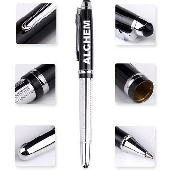 Metal Texture Rollerball Pen