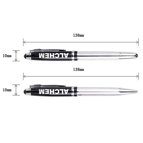 Metal Texture Rollerball Pen Image 1