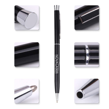 Chrome Trim Twist Action Ball Pen