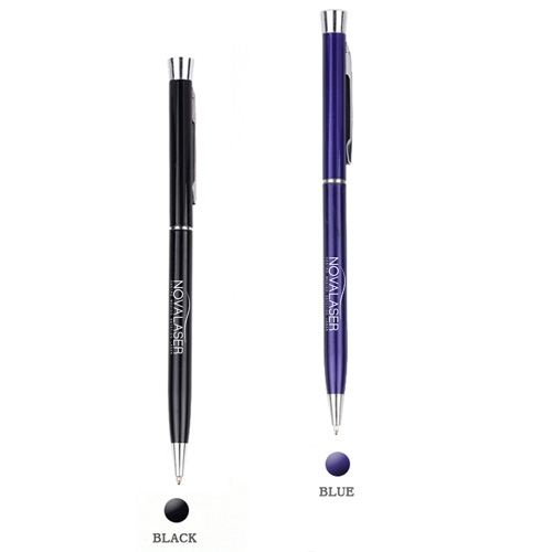 Chrome Trim Twist Action Ball Pen Image 1