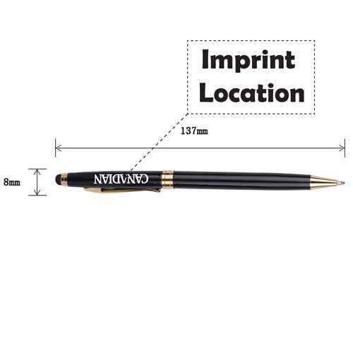 Touchscreen Stylus Multifunction Pen Imprint Image
