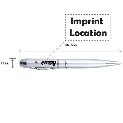 2 In 1 Laser Pointer Ball-Point Pen