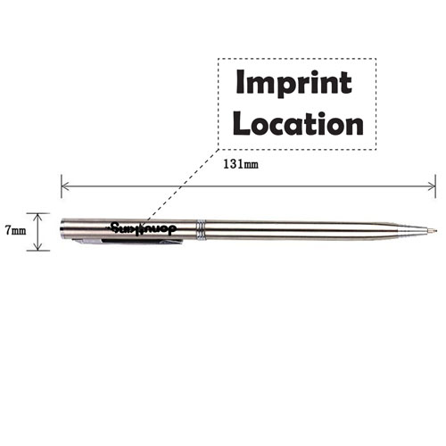 Slim Twist Standard Ball Pen Imprint Image
