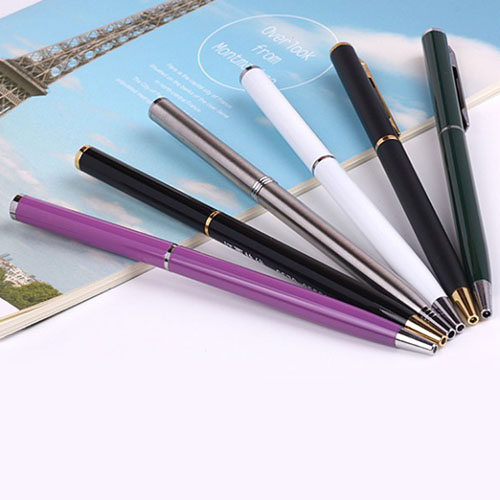 Slim Metal Coated Twist Pen Image 4