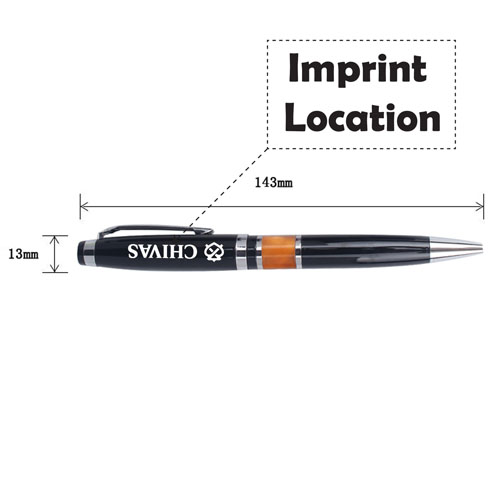 Marbled Accent Twist-Action Ball Pen Imprint Image
