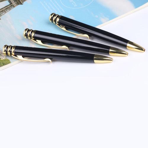 Elegant Ring Design Metal Ballpoint Pen Image 3