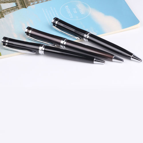 Curve Chrome Trim Metal Twist Pen Image 5
