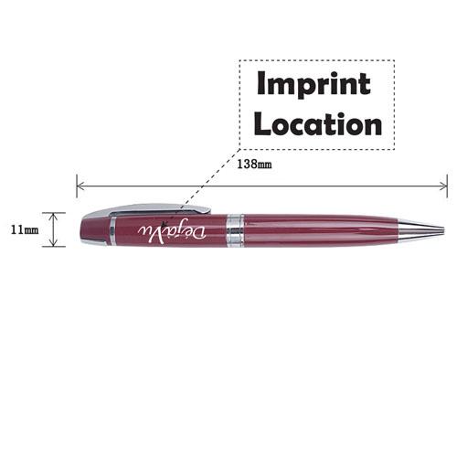 Standard Executive Twist Ballpoint Pen Imprint Image