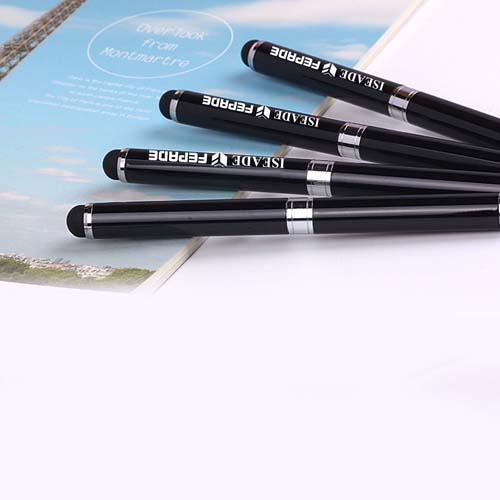 2 in 1Touch Screen Stylus Metallic Ball Point Pen Image 3