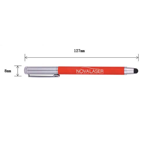 Promotional  metallic touch top pointed ball pen Image 4