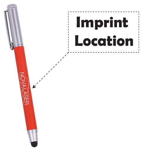 Promotional  metallic touch top pointed ball pen Imprint Image