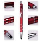 Touch top pointed metallic ballpoint pen
