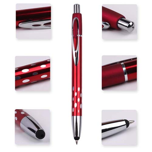 Touch top pointed metallic ballpoint pen