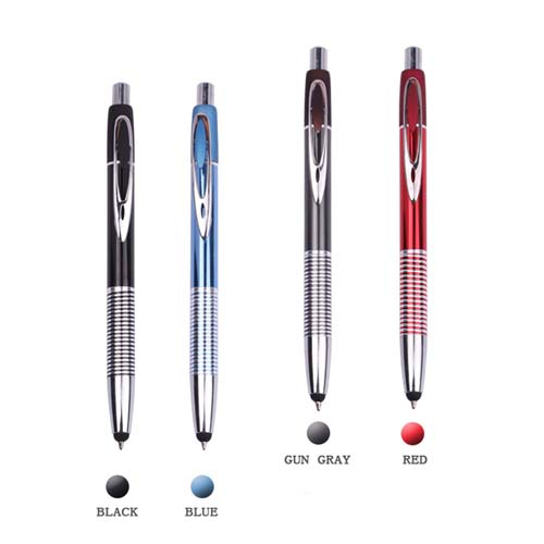 Retractable metal embossed touch pen  Image 2