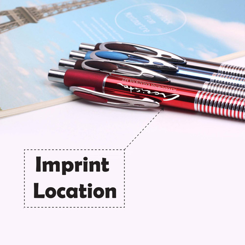 Retractable metal embossed touch pen  Imprint Image