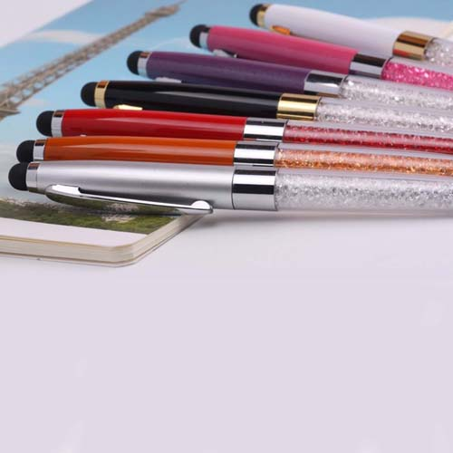 Multi-colored metallic crystal stylus pen Image 3