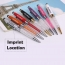 Multi-colored metallic crystal stylus pen Imprint Image