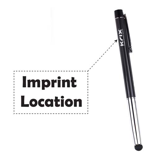 Classic metal stylus pen with dustplug  Imprint Image