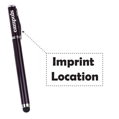 Hot-selling touchscreen stylus ball point pen  Imprint Image