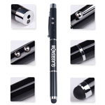 Eco-friendly black metallic LED ballpen