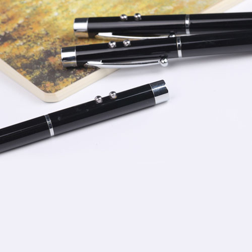 Eco-friendly black metallic LED ballpen Image 5