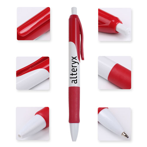 Retractable Ballpoint Pen With Comfortable Grip