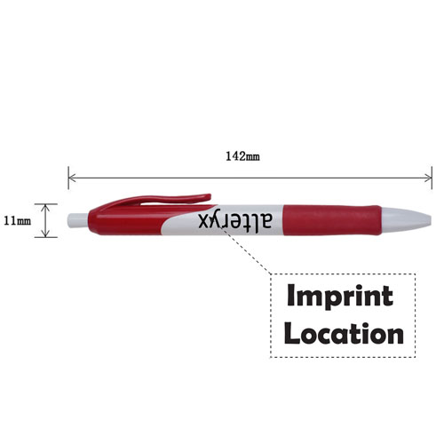 Retractable Ballpoint Pen With Comfortable Grip Imprint Image