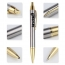 Brushed-Metal Chrome Retractable Ballpoint Pen