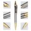 Brushed-Metal Chrome Retractable Ballpoint Pen