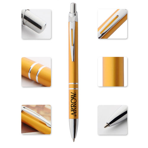 Retractable Metal Ballpoint Pen