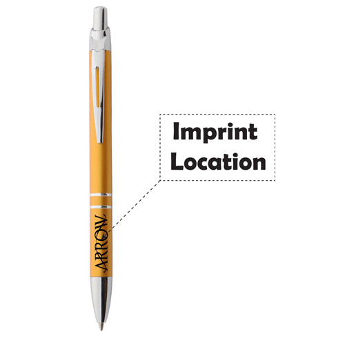 Retractable Metal Ballpoint Pen Imprint Image