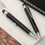 Metal Clip Retractable Black Ball Pen Image 2