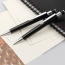 Metal Clip Retractable Black Ball Pen Image 3
