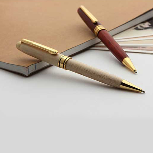 Metal Clip Wooden Pen