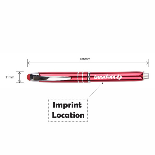 Metal Stylus and Ballpoint Pen Imprint Image