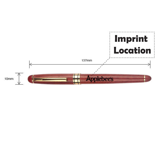 Promotional Simple Wooden Pens Imprint Image