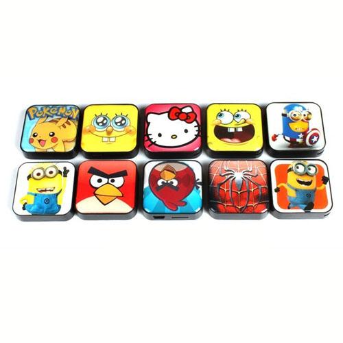 Square Mini Clip Mp3 Player