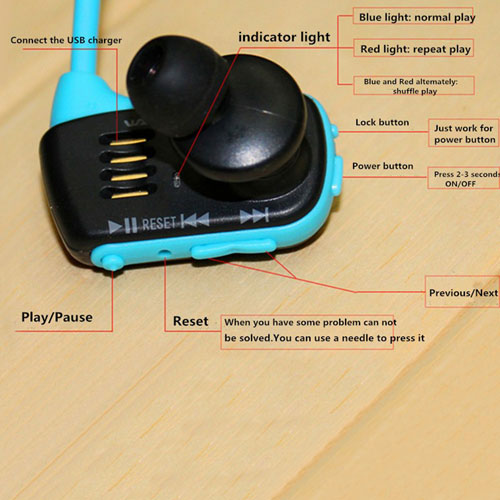 16GB Sports Mp3 Player Walkman Headset