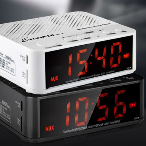Bluetooth Wireless Speaker Radio With Alarm Clock Image 1