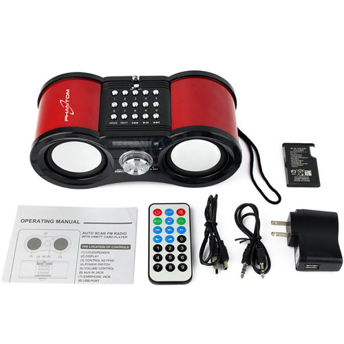 Multimedia Bass Stereo FM Radio Music Player