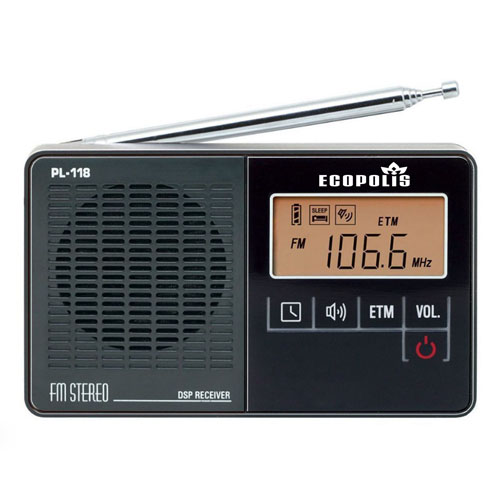 DSP PL-118 FM Radio With Clock Alarm