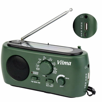 Multifunction Solar Crank Powered Radio