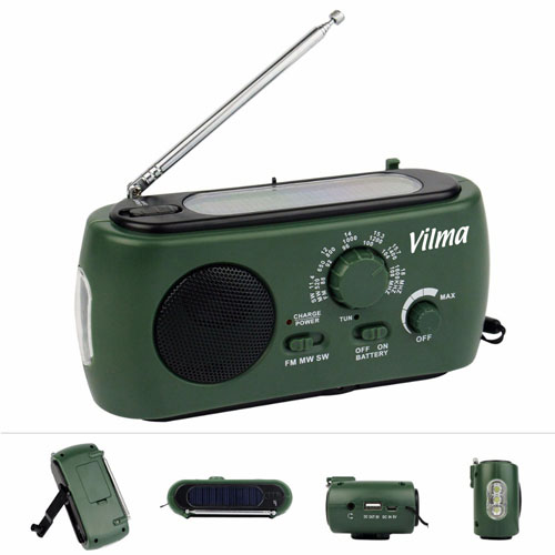 Multifunction Solar Crank Powered Radio Image 1