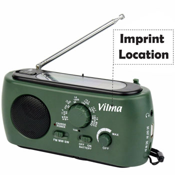 Multifunction Solar Crank Powered Radio